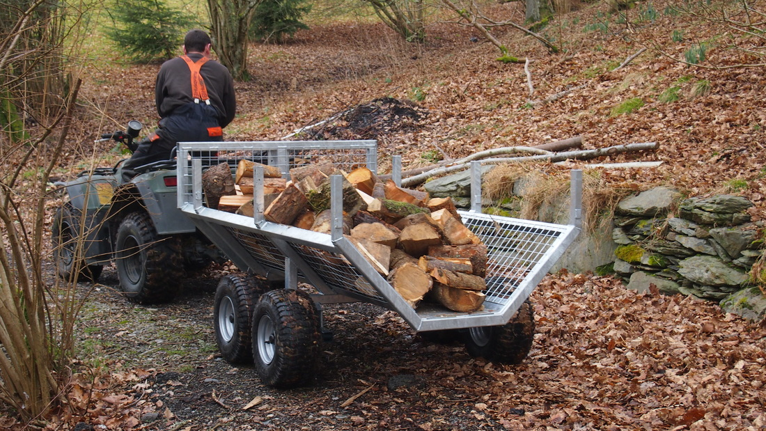 Forwarding Trailer. Timber Trailer. Designed and built in Britain